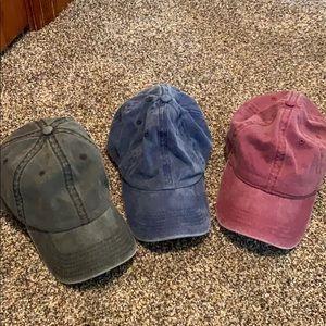 Washed out baseball cap bundle